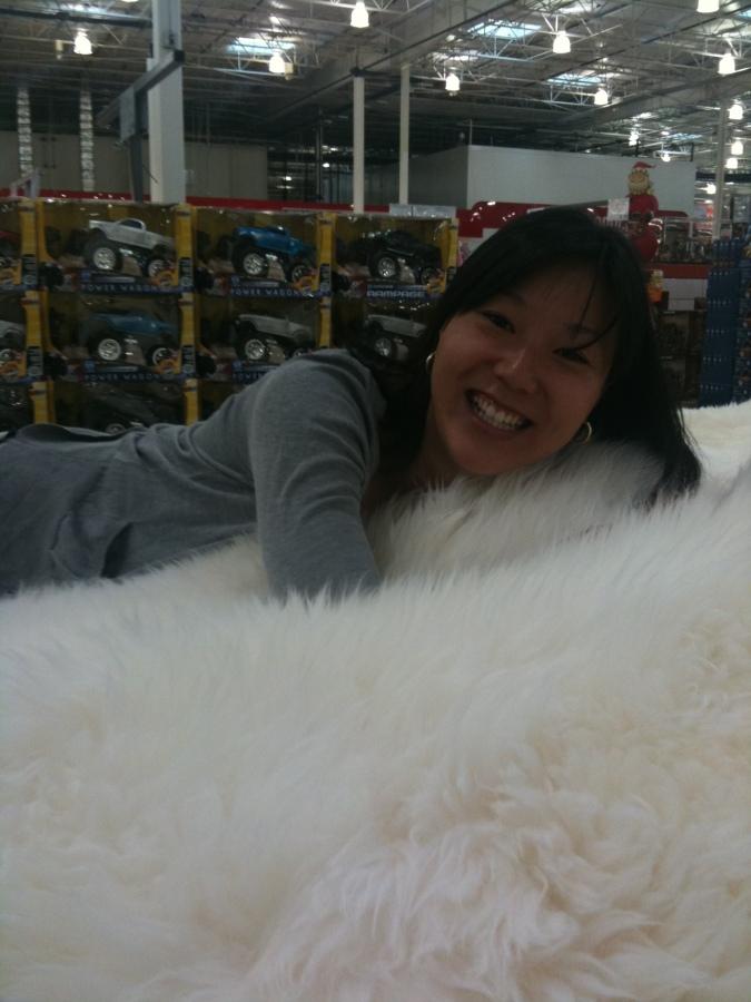 Costcou2019s abundance of lambskin rugs : I was there last night